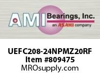 AMI UEFC208-24NPMZ20RF 1-1/2 KANIGEN ACCU-LOC RF NICKEL PI FLANGE CART SINGLE ROW BALL BEARING