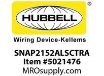 HBL_WDK SNAP2152ALSCTRA SNAPCONNECT DECO 15A/125V SC TR AL