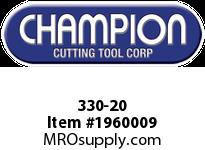 Champion 330-20 20 PC HEX DIE SET 1/4-1 NC&NF