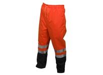 MCR 591SPWXL Class E Breathable Poly/Polyurethane Jacket 2 Waist Pants Orange w/Black Shading