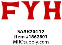 FYH SAAR204 12 RUBBER MOUNTED PRESSED STEEL SETSCREW LOCKING