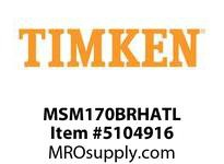 TIMKEN MSM170BRHATL Split CRB Housed Unit Assembly