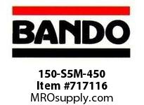 Bando 150-S5M-450 SYNCHRO-LINK STS TIMING BELT NUMBER OF TEETH: 90 WIDTH: 15 MILLIMETER