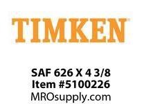 TIMKEN SAF 626 X 4 3/8 SRB Pillow Block Housing Only