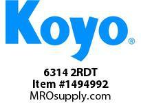 Koyo Bearing 6314 2RDT SINGLE ROW BALL BEARING