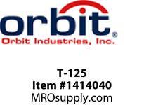 Orbit T-125 TYPE T THREADED CONDUIT BODY 1-1/4^