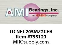 AMI UCNFL205MZ2CEB 25MM ZINC WIDE SET SCREW BLACK 2-BO COV SINGLE ROW BALL BEARING