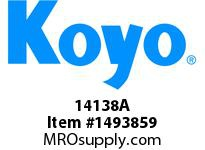 Koyo Bearing 14138A TAPERED ROLLER BEARING