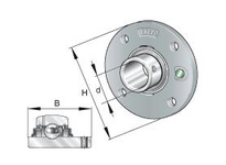 INA RMEY25 Four-bolt piloted flanged unit