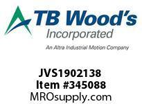 TBWOODS JVS1902138 JVS-190-2X1 3/8 ADJ SHEAVE