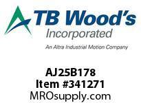 TBWOODS AJ25B178 AJ25-BX1 7/8 FF COUP HUB