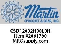 CSD12032H30L3H 12X32 Drum Pulley H30 Doesn't include Bushing