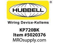 HBL_WDK KP720BK FACEPLT KP SER 1G 1.60^ BLK