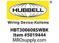 HBL_WDK HBT300608SWBK WBPRFRM RADI 30 6Hx8W BLACKSTLWLL