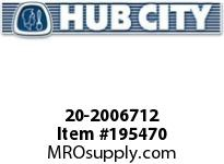 HUBCITY 20-2006712 5H 10.36/1 S A2 3.438 PARALLEL SHAFT DRIVE