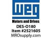 WEG DES-O180 DE ENDSHIELD ODP 182/4T Integrals
