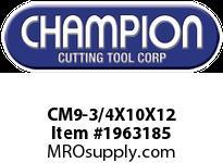 Champion CM9-3/4X10X12 SDS PLUS ROTARY HAMMER BITS