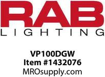 RAB VP100DGW VAPORPROOF 100 PENDANT 1/2 WHITE W/ GLASS GLOBE CAST GD