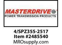 MasterDrive 4/SPZ355-2517 4 GROOVE SPZ SHEAVE
