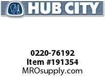 HUBCITY 0220-76192 SS325 20/1 A WR 182TC 1.438 SS WORM GEAR DRIVE