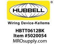 HBL_WDK HBTT0612BK WBPREFORM RADI T 6^Hx12^W BLACK
