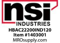NSI HBAC22200IND120 HIGH BAY IND 200W 22^ ACRYLIC REF 120