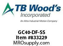 TBWOODS GC40-DF-SS REPAIR KIT GC40 DBL SS DISC