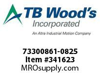 TBWOODS 73300861-0825 73300861-0825 7S T-SF CPLG