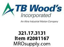 TBWOODS 321.17.3131 NICKEL BELLOWS 17 3/8^--3/8^