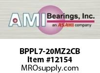 AMI BPPL7-20MZ2CB 1-1/4 ZINC NARROW SET SCREW BLACK P