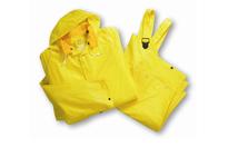 West Chester 4025E/XXXXXL 25ml Single Ply 3pcs Rain suit Detachable Hood - Yellow