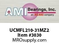 AMI UCMFL210-31MZ2 1-15/16 ZINC WIDE SET SCREW STAINLE SSHOUSING W/ZINC COATED BEARING