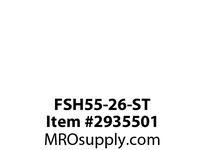 TBWOODS FSH55-26-ST 8 BOLT CPLG W/ RB STL HUB