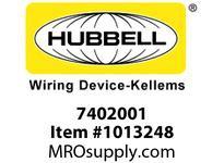 HBL-WDK 07402001 S-TITE CONN STR MALE 3/8W/MESH