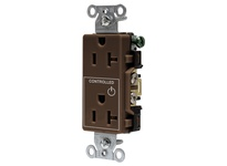 HBL_WDK DR20C1 1/2 CONTROLLED 20A 125V B/S DECO BR