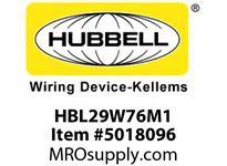 HBL_WDK HBL29W76M1 WT CONN L16-30R 3P 30A/480V IN BOX