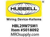 HBL_WDK HBL29W75M1 WT CONN L15-30R 3P 30A/250V IN BOX