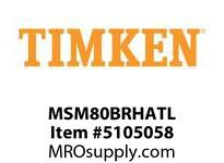 TIMKEN MSM80BRHATL Split CRB Housed Unit Assembly