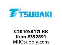 US Tsubaki C2040SK17LRB C2040 RIV 7L/SK-1