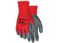 MCR N9680M Ninja Flex 15 Gauge Red 100% Nylon Shell Gray Latex Dip Palm & Fingertips