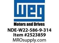 WEG NDE-W22-586-9-314 W22 NDE END SHIELD 586-9 314 Motores