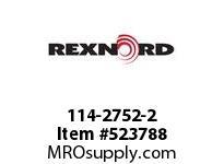 REXNORD 114-2752-2 KU882-12T 3/4 UHMWPE STK 142180