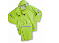 West Chester 4031/XXXL Fluorescent Lime Green/w Reflective stripes - 35ml PVC over Polyester 3pcs Rain suit Class 1