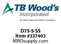TBWOODS D75-5-SS FLEX DISC SS