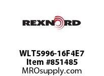 REXNORD WLT5996-16F4E7 WLT5996-16 F4 T7P WLT5996 16 INCH WIDE MATTOP CHAIN W