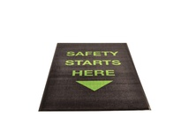 NoTrax 194SSH35BL 194 Safety Starts Here Vertical 3X5 Black Safety Message mats make your safety message loud and clear while keeping facilities cleaner and safer. Pre-printed message mats warn employees who may be entering a hazardous area