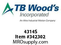 TBWOODS 4314S 4X3 1/4-SD STR PULLEY