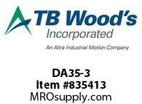 TBWOODS DA35-3 HUB RB 1018/A516 STL