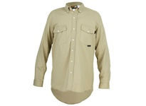 MCR S1TL FR Long Sleeve Work Shirt Tan L
