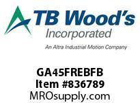 TBWOODS GA45FREBFB HUB GA4 1/2 EB RIGID FINISH BO
